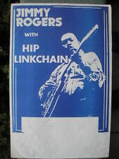 CHICAGO BLUES POSTER: JIMMY ROGERS with HIP LINKCHAIN  11 x 17 original