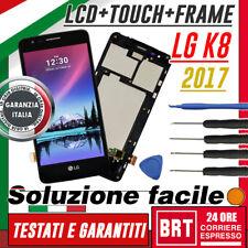 LCD+TOUCH SCREEN+FRAME VETRO PER LG K8 2017 MS210 M200N DISPLAY ORIGINALE +KIT!!