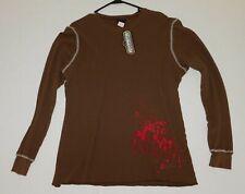 KISS Band Blood Splatter Brown Long Sleeve Thermal Shirt Winterland UNWORN 2006