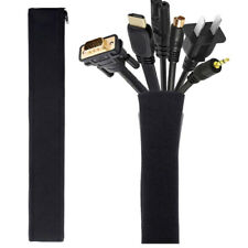 Cable Management Sleeve Zipper Wrap Cord Organizer For Home Office Neopr KPRMAU