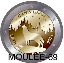 2 Euros Conmemorativos ESTONIA 2021 -PREVENTA- *El lobo* Leer Descripcón