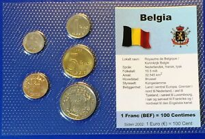 Belgium 25c - 10 francs 1970-1998 XF UNC Circulation Coin Set - World Currencies