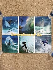 Generations Of Quiksilver Surf Poster Autographed By Zeke Lau & Kanoa Igarashi