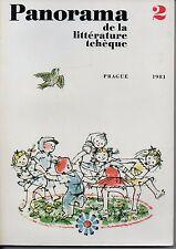 PANORAMA DE LA LITTERATURE TCHEQUE N° 2    PRAGUE 1981