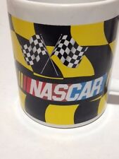 NASCAR COFFEE MUG CUP CHECKERED FLAG TEA COCOA