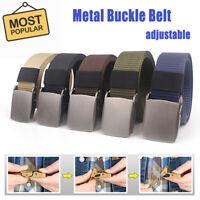 Adjustable Men Outdoor Canvas Buckle Belt Tactical Camping Equipment