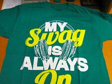 "AUTHENTIC HYBIRD T-SHIRT ""MY SWAG IS ALWAYS ON""  SIZE  YOUTH LARGE"