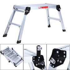 Ladder Work Platform Aluminium Bench Folding Step Hop Up Metal Painting Car