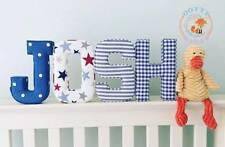Tessuto lettere decorative Wall Art, Personalizzata, Nursery, imbottito, maschio, femmina