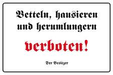 Sammeln & Seltenes 10x15 cm Blechkarte Blechschild 15012 BETTELN VERBOTEN FUNSCHILD
