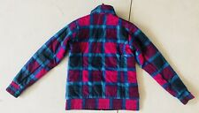 The North Face Pink Plaid Reversible Jacket Black Small Quilted Puffer Mossbud