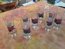 2.5 ounce Shooter Shot Glass Set of 8 Grape Vine Wine Taster