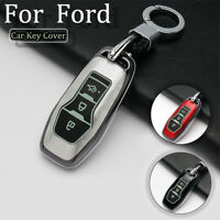 3 Button Alloy Car Remote Key Fob Cover Shell For Ford Mustang Mondeo Edge F-150
