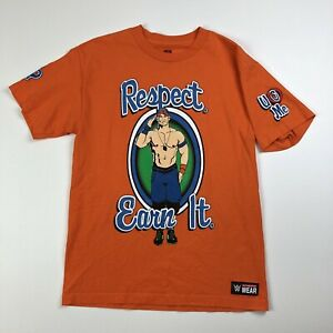 WWE JOHN CENA RESPECT Earn It Never Give Up T Shirt Medium