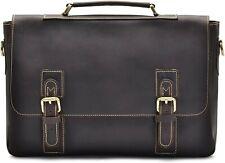 NEW Hølssen Men's Genuine Leather Satchel Laptop Briefcase 15