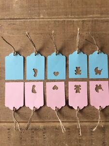 10 Handmade Baby Girl & Boy Gift Tags-baby Shower- Christenings-birthday