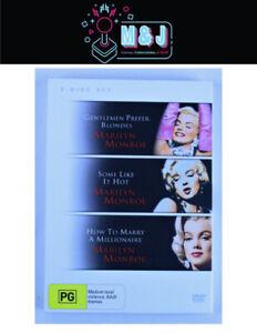 DVD 3 Disc Movie Set MARILYN MONROE'S Classic Films  -Aussie Seller