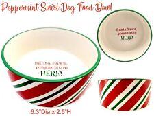 Christmas Santa Paws Dog Food Bowl Ceramic Eating Dish Dog Mom Dad Gift Accessor