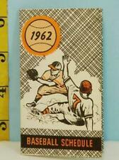 1962 Pittsburgh Pirates Pocket Schedule Westland Dairy Milk HTF!