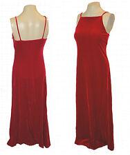 vintage Dress, Maurices, Deep-Red Stretch Plush-Velour-Velvet Long sexy, 5/6