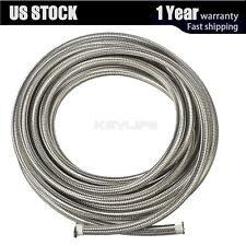 "20 Feet AN6 3/8"" Stainless Steel Braided Fuel Oil Gas Line Hose Air -6AN"