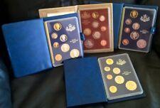 1985, 1986, 1987, 1988 PROOF SETS - ROYAL AUSTRALIA MINT - FOUR SETS