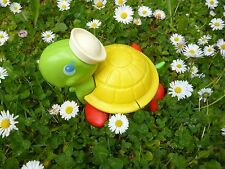 ☺ Ancienne Tortue Fisher Price A Tirer Pattes Rouge Année 1977 Réf: 2254