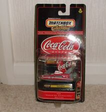 COCA COLA MATCHBOX COLLECTABLE-HYDROPLANE NEW BLISTER PACK SEALED
