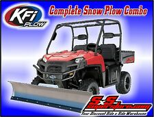 "KFI UTV 66"" Snow Plow Kit Combo Polaris Ranger Midsize EV 400 500 570 800 10-17+"