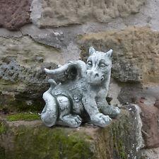 Massiver lustige Drachen Steinfigur Gartendeko feng shui aus Steinguss frostfest