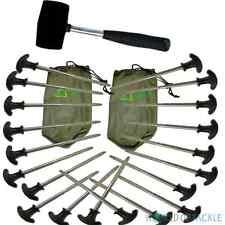 Bivvy picchetti e Mallet X 20 Heavy Duty Pesca Campeggio Per Tenda Brolley OMBRELLO