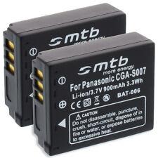2x Batería para Panasonic CGA-S007A S007A/B, CGR-S007 S007E S007E/1B, DMW-BCD10