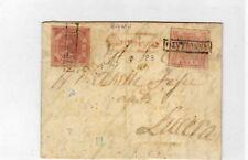 1858 regno di Napoli - lettera con 1 + 2 grana da Bovino per Lucera - splendida