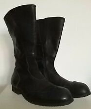 COMME DES GARCONS Womens Black Leather Biker Boots Size JP 24.5, US 8.5, EU 39