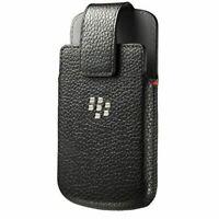 BlackBerry Classic Leather Swivel Holster Case - Black