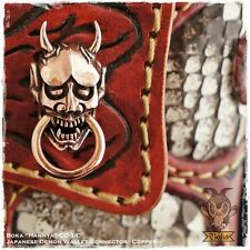 Boka Hannya Japan Demon Devil Oni Copper Biker Wallet Chain Connector Concho Men