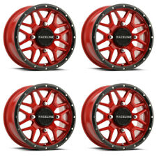 4 ATV/UTV Wheels Set 14in Raceline Krank Red 4/156 6+1 1KXP