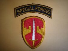 2 Vietnam War Patches: SPECIAL FORCES + Military Assistance Command In Vietnam