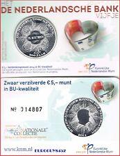 NEDERLAND - COINCARD 5 € 2014 ZILVER BU - 200 JAAR NEDERLANDSE BANK