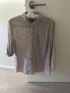 Womens Sportscraft Liberty print 3/4 sleeve shirt size 14 Like New