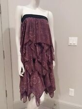 Free people sleeveless tiered dress maxi skirt sz XS $128 NWT