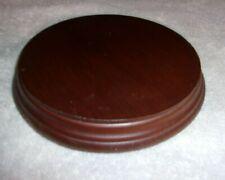 """Round Wooden Stand Base Dark Brown 5 3/4"""" Diameter"""