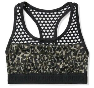 VICTORIAS SECRET Pink Ultimate Fishnet Mesh Unlined Sports Bra - Camouflage