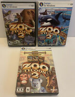 Lot of 3 Zoo Tycoon 2 PC Games Zookeeper Collection/Marine Mania/Extinct Animals