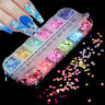 Colorful Flakes Holographics Butterfly Nail Glitter Sequins Nail Art Decor DIY