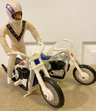 Vintage Evel Knievel Action Figure & 2 Stunt Cycles 1972 Ideal Toy