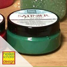 Satiniercreme in der Farbe Weihnachtsgrün - 100g -Neu-  Heike Schäfer Design