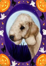 Bedlington Terrier Sandy Halloween Howls Flag