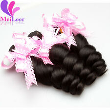 3 Bundles 100% Human Hair Extension Brazilian Real Loose Wave Virgin Weaves Weft
