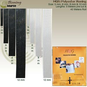 Polyester Boning HQG WIDTH 3 6 8 & 12 mm Pre cut And Full Roll Boning Tape